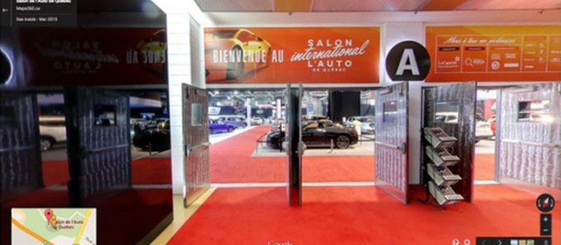 Le Salon International de l'Auto de Québec 2015 est maintenant accessible via la technologie Street View de Google!